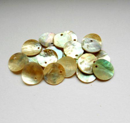 Kagyló korong - 13 mm - natúr