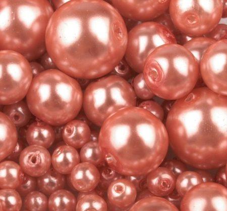 Cseh üveg tekla gyöngy - 6 mm - 25 db/cs - lazac