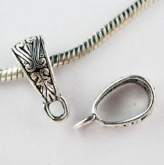 Medálvezető - 18*7 mm - ezüst