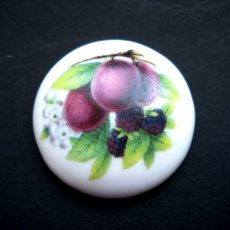 Porcelán kaboson - 30 mm - gyümölcsök 5#