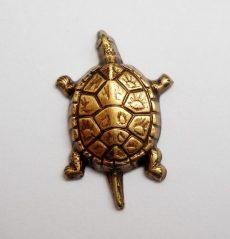 Teknősbéka - antik arany - 20*14  mm