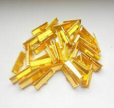 Szalagvégzáró - 25x6 mm - 4 db - arany