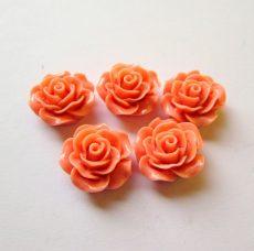 Akril rózsa kaboson -  20 mm - lazac