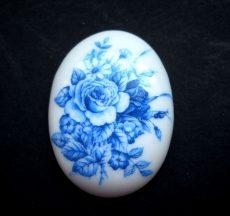 Porcelán kaboson - 40*30 mm - rózsák 3#