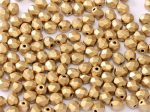 Cseh csiszolt gyöngy - 4 mm - Aztec Gold  - #01710
