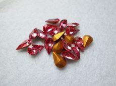 Swarovski kristály csepp - pear - 10*6 mm - rose - GF