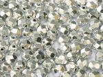Cseh csiszolt gyöngy - 4 mm - Crystal Labrador Full - #26236