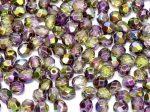 Cseh csiszolt gyöngy - 4 mm - Crystal Magic Orchid - #95000