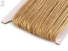 Sujtás zsinór - 3 mm - metál - arany