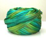 Shibori silk ribbon - peacock -10 cm