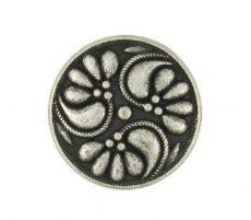 Antique finish metal shank button - 18 mm - bronze