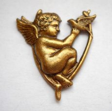 Angel - brass stamping - 28*24 mm