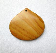 Fa jáspis kaboson 52*48 mm - fúrt