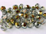 Cseh csiszolt gyöngy - 4 mm - Crystal Marea - #28001