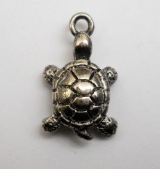 Turtle - antique silver - 19*16 mm