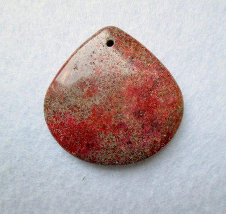 Korall fosszília kaboson - 40*40mm - fúrt