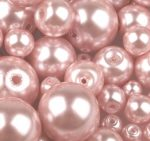 Cseh üveg tekla gyöngy - 6 mm - 25 db/cs - rózsaszín