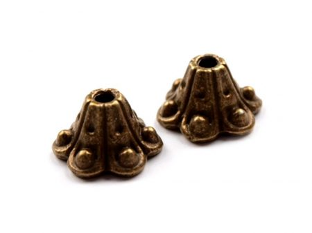 Réz gyöngykupak - 9x6 mm - harang