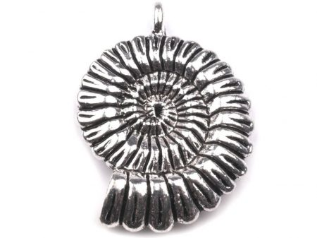 Ammonit  - antik ezüst - 30*25  mm