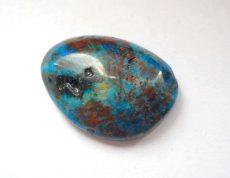 Korall fosszília kaboson kék - 26*18 mm