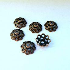 Vörösréz gyöngykupak - 10x5 mm