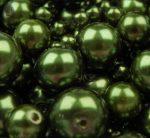 Cseh üveg tekla gyöngy - 8 mm - 20 db/cs -fenyő