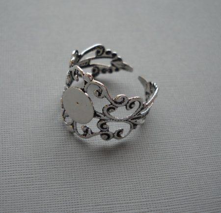 Gyűrűalap - antik ezüst - állítható