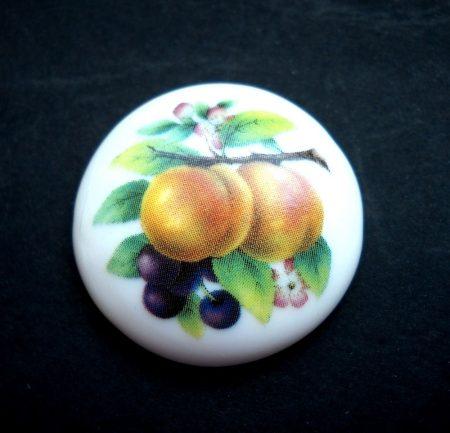 Porcelán kaboson - 30 mm - gyümölcsök 2#