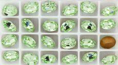 Swarovski ovális kristály - 10x8 mm - chrysolite