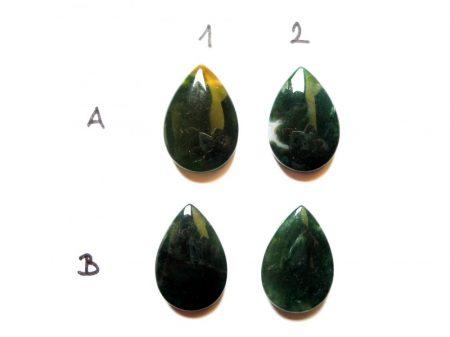 Indiai achát kaboson/medálgyöngy - 30*22 mm