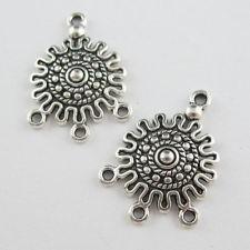 Tibeti ezüsti fülbevaló alap -  28*20 mm (1 pár)