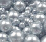 Cseh üveg tekla gyöngy - 6 mm - 25 db/cs - galambszürke