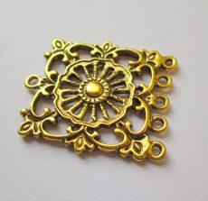 Tibetan silver connector 24*20 mm - 1 pair