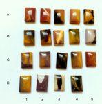 Mookait jáspis kaboson - 14X10