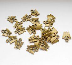 Pillangó medál - 16*12 mm - bronz - 1 pár