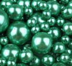 Cseh üveg tekla gyöngy - 8 mm - 20 db/cs -kelly zöld