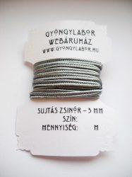 Sujtás zsinór - 3 mm - fényes - kovaszürke (#29)