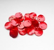 Kagyló korong - 13 mm - piros