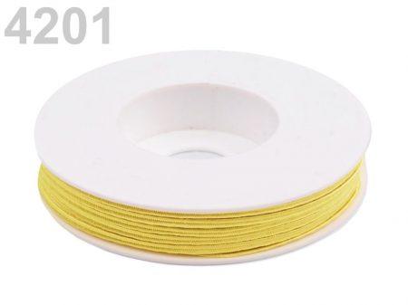 Sujtás zsinór - 3 mm -  élénk sárga  (#4201)
