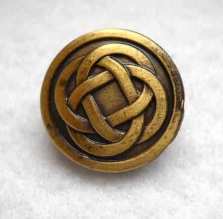Kelta fémgomb - 18 mm - bronz