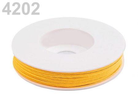 Sujtás zsinór - 3 mm -  napsárga  (#4202)
