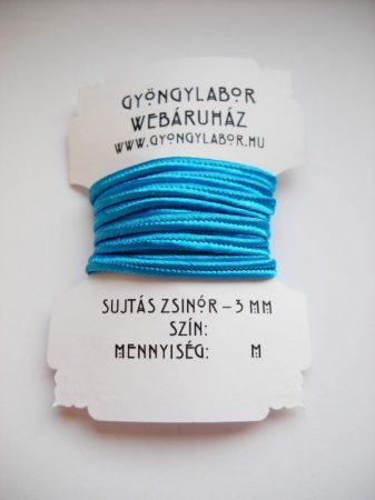Sujtás zsinór - 3 mm - fényes - teal (#44)