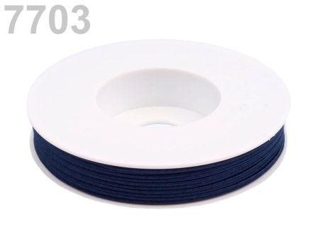 Sujtás zsinór - 3 mm -  fekete írisz  (#7703)