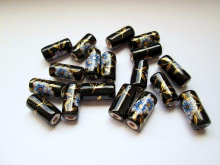 Porcelán gyöngy - ibolya - 12 mm