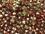 Cseh csiszolt gyöngy - 4 mm - Crystal California Gold Rush - #98542