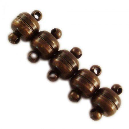 Mágneses bronz kapocs - 10x6 mm