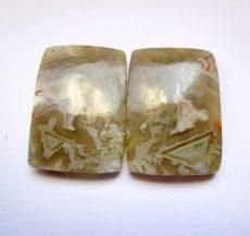 Mexikói csipkeachát kaboson - összeillő pár - 22*16 mm