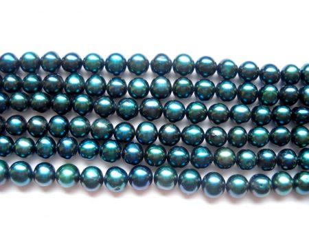 Igazgyöngy - pávakék - 5-6 mm