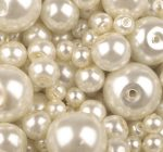 Czech glass pearl - 8 mm - 20 pcs/pack - raw white