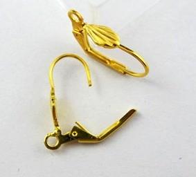 Biztonsági fülbevaló alap - arany 20*12 mm (1 pár)